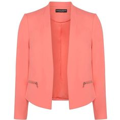 Dorothy Perkins Coral Zip Pocket Jacket (25.290 CLP) ❤ liked on Polyvore featuring outerwear, jackets, coral, dorothy perkins, dorothy perkins jackets, coral jacket, red jacket and zip pocket jacket