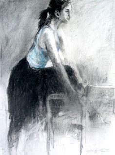 Fusain et aquarelle par Gerald Squires Fine Art Drawing, Art Drawings, Figure Studies, Us Border, Newfoundland, Online Gallery, Faces, Artist, Artwork