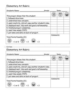 Got Art? | Teaching Art to Young Artists  Interesting rubric/easy to understand assessment.