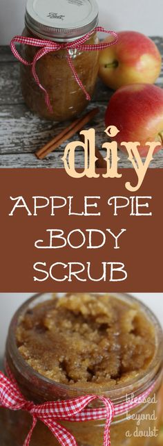 This super easy DIY apple pie body scrub is absolutely amazing. Treat yourself and celebrate the harvest season. It makes wonderful gifts for teachers, friends, and family. You will become addicting.