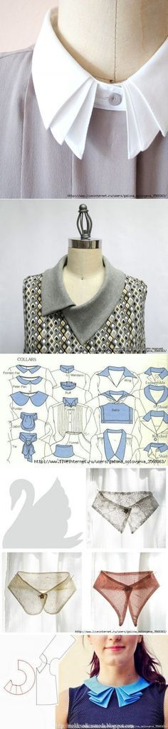In tailor treasure: collars, clothing and material modeling..♥ Deniz ♥