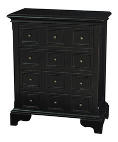 Look at this Black Accent Chest on #zulily today!