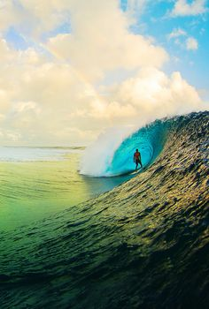 Rainbow over Teahupoo ph Zak Noyle my favorite place I want to visit