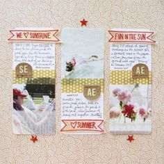 We Heart Sunshine | Use 3x4 Project Life grid cards paired with 3x4 photos and a set of summer banner stamps to create this layout.