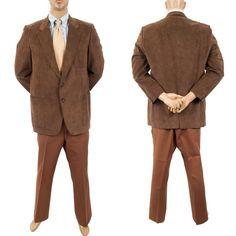 #MensRetro70sLeisureSuit Faux Suede Sport Coat Vtg #Kingsridge Jacket Pants #VintageMensClothing #SomeLikeItUsed #Costume