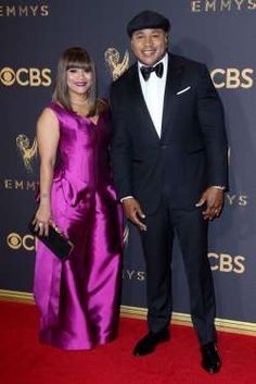 Simone Smith accompanied her husband, LL Cool J, on the red carpet during the Emmys. Ll Cool J, The Emmys, Cute Couples, Red Carpet, Awards, Take That, Husband, Queen, Formal Dresses