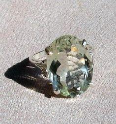 green amethyst oval cut ring