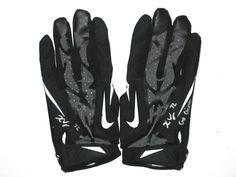 "Kerry Wynn New York Giants Rookie Practice Worn   Signed ""Go Giants"" Nike  Gloves eac883456"