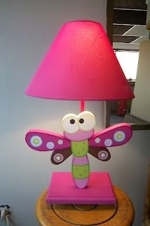 lamparita libelula perfecta para la habitacion de las niñas