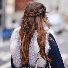 braids, fashion, hairstyle, street style, style, wind, paola alberdi