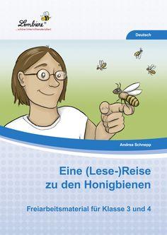 """Das Thema """"Bienen"""" ist besonders wegen des momentanen Bienensterbens hochaktuell. Mit unserem Material für die 3. und 4. Klasse gehst du auf (Lese-) Reise. Die Geschichte um einen Jungen und seine Erlebnisse mit einer Biene eignet sich hervorragend für den Leseunterricht und vermittelt nebenbei viele interessante Aspekte über Honigbienen. #Lernbiene #Grundschule #Unterrichtsmaterial #Lesen #Biene #Umwelt"""
