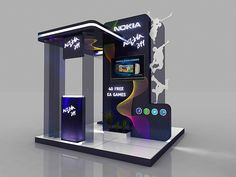 Nokia - Asha Booth - on Behance Exhibition Plan, Ea Games, Booth Design, New Model, Behance, Kiosk, Ideas, Stand Design, Thoughts