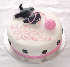 Cat Decorated Cake