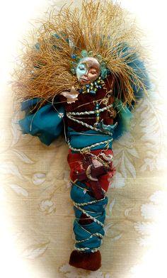 Spirit Doll, by donna parker, mixed media, copyright 2012