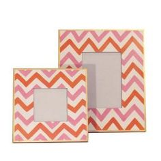 Pink Bargello Picture Frame-available In Two Different Sizes (pink Ba