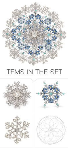 """Snowflakes"" by bambi-52 ❤ liked on Polyvore featuring art"