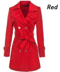Women's Fashion Luxury Spring Fall Long Trench Coat Jacket Outwear Slim Fit Hot   eBay