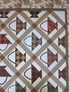 This was designed for Boxwood & Berries 2012 in Spring Green, WI at The Country Sampler. Quilting Ideas, Quilting Projects, Quilting Designs, Primitive Quilts, Antique Quilts, Small Quilts, Mini Quilts, Bountiful Baskets, Scrappy Quilts