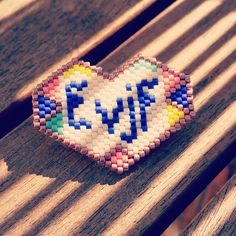 """Broche """"Future Mme... - EVJF"""" en perles Miyuki"""