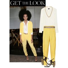Get the Look: Solange Knowles by frenzy-n on Polyvore featuring polyvore fashion style Theory STELLA McCARTNEY Lanvin Kenneth Jay Lane Maison Boinet GetTheLook CelebrityLook celebstyle CelebrityStyle