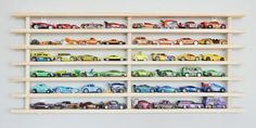 One Tier Wall Garage (holds up to 50 toy cars)