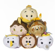 First look at the Beauty and the Beast Tsum Tsum collection! This is the UK Posh Paws collection though. I'm honestly kind of hoping the Disney Store ones will look a little better!
