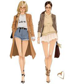 Happy Monday, everyone! Is it sweater weather? Warm enough for sandals? Why not wear both? Dress Design Sketches, Fashion Design Drawings, Fashion Sketches, Fashion Drawing Dresses, Fashion Illustration Dresses, Fashion Line, Fashion Art, Girl Fashion, Illustration Mode