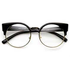 Description - Measurements - Shipping - Unique round half frame that  features high pointed temples 201a3bf8f0