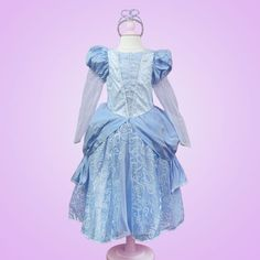Long Sleeve Blue Princess Dress