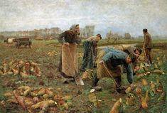 The Beet Harvest, 1890 - Emile Claus oil painting