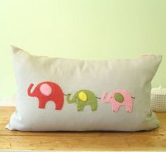 Letter Pillow Dwell Studio Zoo Dots in Pink by ChristineElliott, $45.00