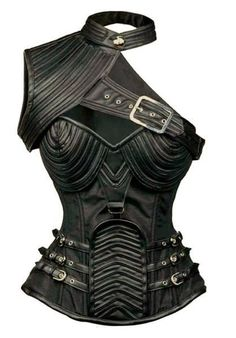 Steel Boned Steampunk Corset Shoulder Armour Steampunk funk staff favorite! Spiral stainless steel Bones with reinforced channels. The satin lining makes this really comfortable Size Bust cm Bust inch