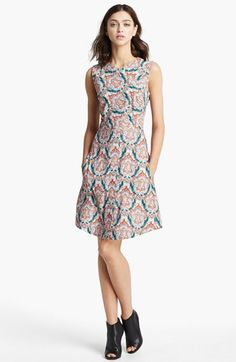 Carven Sleeveless Print Dress available at #Nordstrom