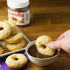 Baked Donuts with Nutella Gravy. Yep you read that right baked donuts with NUTELLA chocolate gravy. Chocolate gravy is a Southern classic and its great with donuts! Other Recipes, My Recipes, Baking Recipes, Dessert Recipes, Brunch Recipes, Breakfast Recipes, Snack Recipes, Chocolate Gravy Recipe, Nutella Chocolate