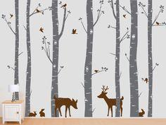 Birch Trees Vinyl Decal Birch Trees Birch Forest by InAnInstantArt, $89.00