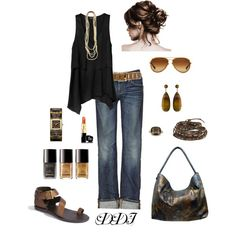 Black and Brown, created by dawndayiannelli on Polyvore
