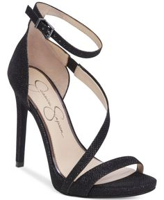 Strap into these sexy evening sandals from Jessica Simpson for the perfect finishing touch to your elegant holiday ensemble