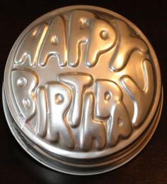 Vintage Wilton Happy Birthday Cake Pan Tin 1974 by Lath6400, $9.99