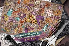 Hair Salon Objects & Symbols Set @creativework247