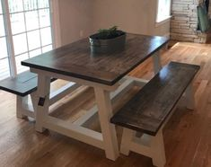 Deco Furn, Farmhouse Table For Sale, Kitchen Table Legs, Fixer Upper Kitchen, Stained Table, Farmhouse Light Fixtures, Kitchen Room Design, Kitchen Ideas, Kitchen Styling