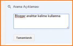 Blogger Anahtar Kelime Kullanımı