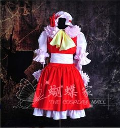 Touhou Project Flandre Scarlet Lolita Cosplay Costume