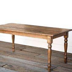 Here is a Park Hill Old Elm Farm Table that is sturdy built from reclaimed elm lumber. Farm Dining Table, Farmhouse Kitchen Tables, Rustic Table, Dining Room, Farm Tables, Wood Tables, Farmhouse Chic, Side Tables, Coffee Tables