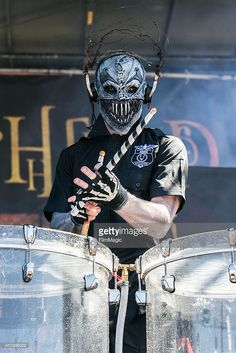 Mushroomhead performs live at White River Amphitheater on July 8, 2014 in Enumclaw, Washington.