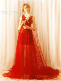 Off the shoulder Traditional Long dress Mermaid / trumpet Chinese Red Wedding Dresses Wedding Dress Brands, Wedding Dresses For Sale, Wedding Dress Styles, Wedding Colors, Mermaid Dresses, Trumpet, Sleeve Styles, Off The Shoulder, Chinese