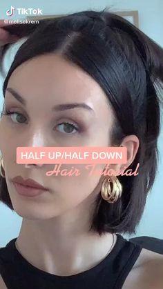 Hair Tips Video, Hair Videos, Hair Up Styles, Medium Hair Styles, Hair Tutorials For Medium Hair, Hairdos For Short Hair, Hair Styler, Aesthetic Hair, Diy Hairstyles