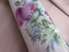Antique Signed Hand Painted Limoges Vase Thistles Ida Upton Paige | eBay#ht_1551wt_1101