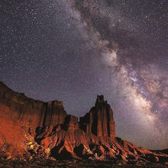 In celebration of Capitol Reef National Park's designation as a national park 45 years ago today, enjoy a memorable night stargazing in the Certified International Dark Sky park. : NPS/Jacob W. Frank #CapitolReef #FindYourPark #Stargazing #DarkSky