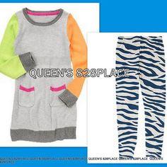 NWT Crazy 8 Girls Size 2T 3T Heart Tee Shirt Top /& Stripe Crop Leggings 2-PC SET