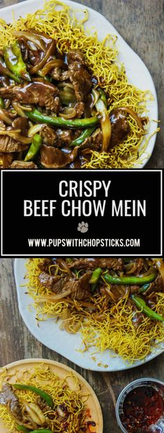 Crispy Cantonese Beef Chow Mein | Takeout | Takeout at Home | Crispy Chow Mein | Beef Chow Mein